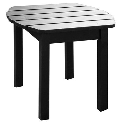 Edgell Solid Wood Side Table Finish: Black by Andover Mills