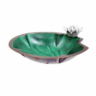 ACHLA Lilypad Birdbath