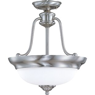 Brigman 3-Light Semi Flush Mount by Charlton Home