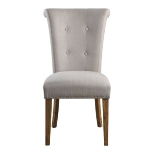 Forbes Oatmeal Side Chair by DarHome Co No Copoun