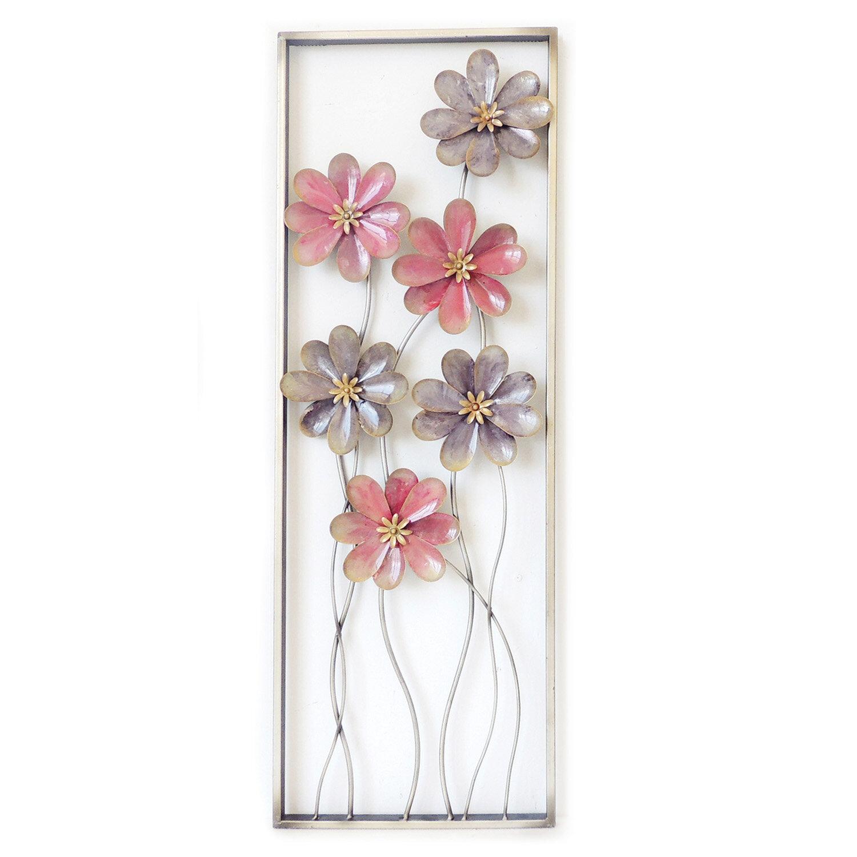 Charlton Home 6 Flowers On Stem Wall Decor Wayfair