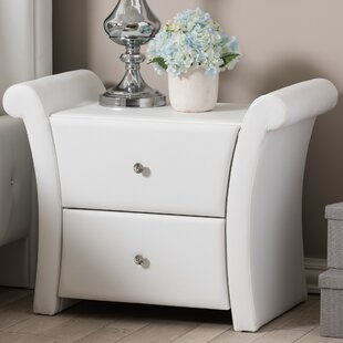 Compare prices Genoa 2 Drawer Nightstand By Latitude Run