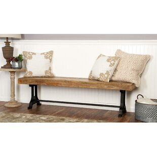 Cole & Grey Metal and Wood Bench