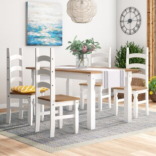 Abbie Dining Set With 4 Chairs By August Grove