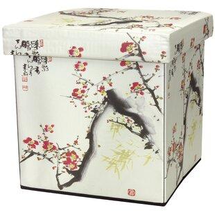 Cherry Blossom Storage Ottoman by Oriental Furniture