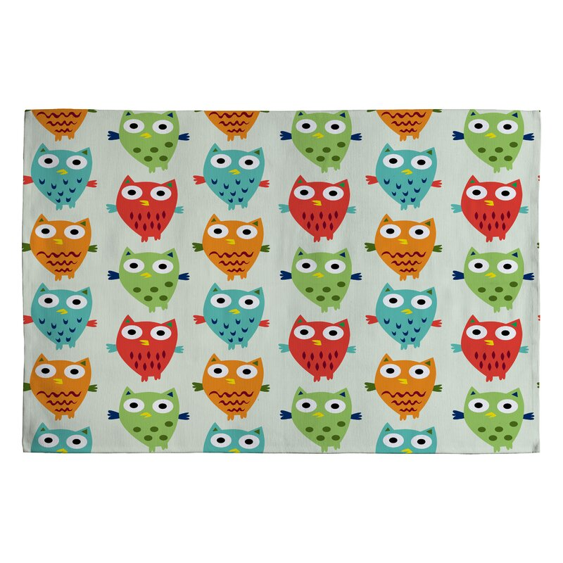 Andi Bird Owl Fun Kids Rug
