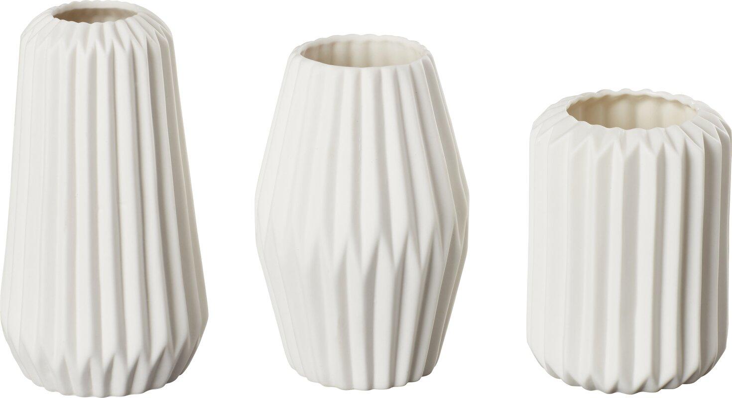 Elkhart 3 piece vase set reviews allmodern elkhart 3 piece vase set reviewsmspy