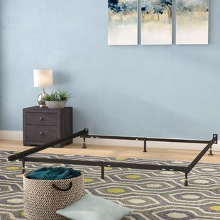 Symple Stuff Hickerson Heavy Duty 6 Leg Adjustable Metal Bed Frame with Glide