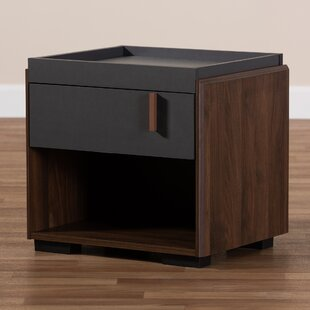 Compare Askern Wood 1 Drawer Nightstand by Wrought Studio
