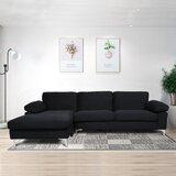 Dequilla 103.5 Left Hand Facing  Sofa & Chaise by Orren Ellis