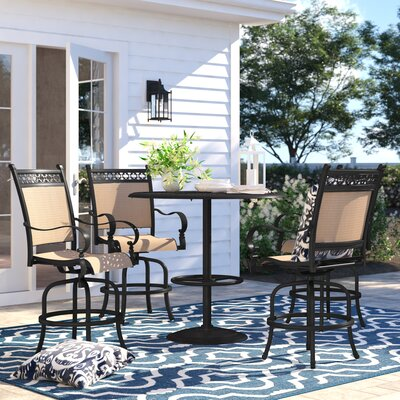 Curacao 5 Piece Bar Height Dining Set by Sol 72 Outdoor 2020 Sale