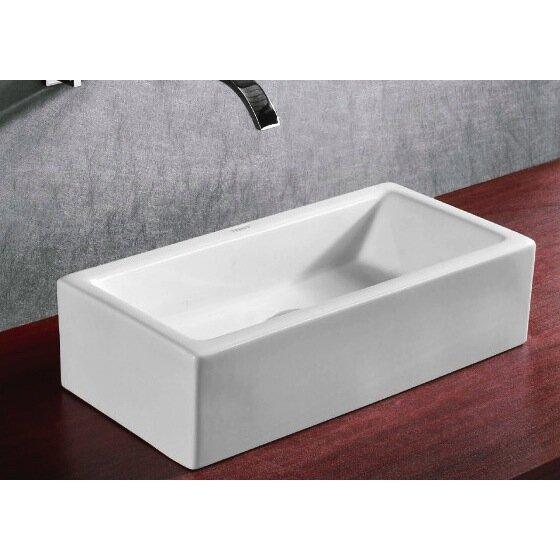 Etonnant Ceramica Ceramic Rectangular Vessel Bathroom Sink