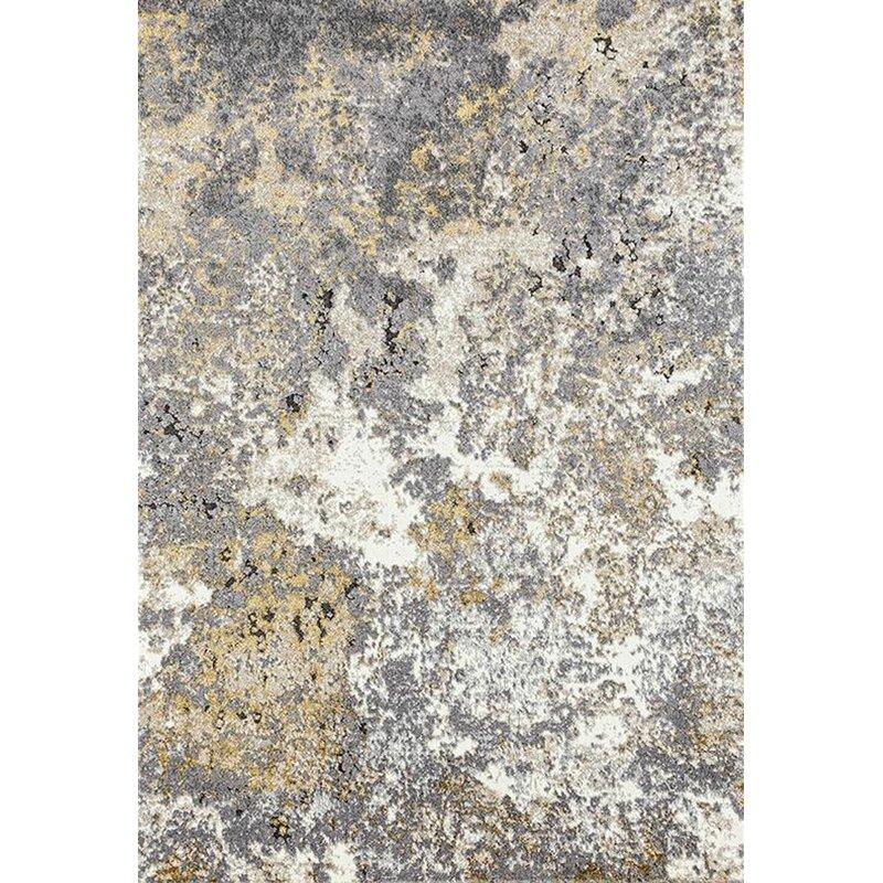 17 Stories Elba Abstract Beige Gray Area Rug Reviews Wayfair