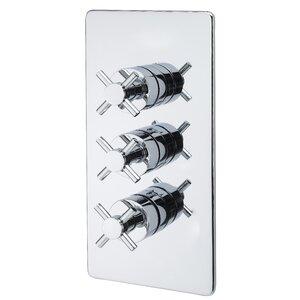 Dreigriff-Duscharmatur Unterputz Crosshead von Belfry Bathroom