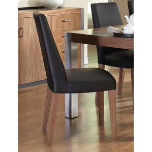 Dougherty Genuine Leather Upholstered Dining Chair by Wade Logan