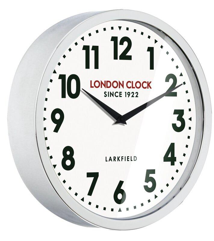 london clock company wanduhr station sterling 30 cm bewertungen. Black Bedroom Furniture Sets. Home Design Ideas