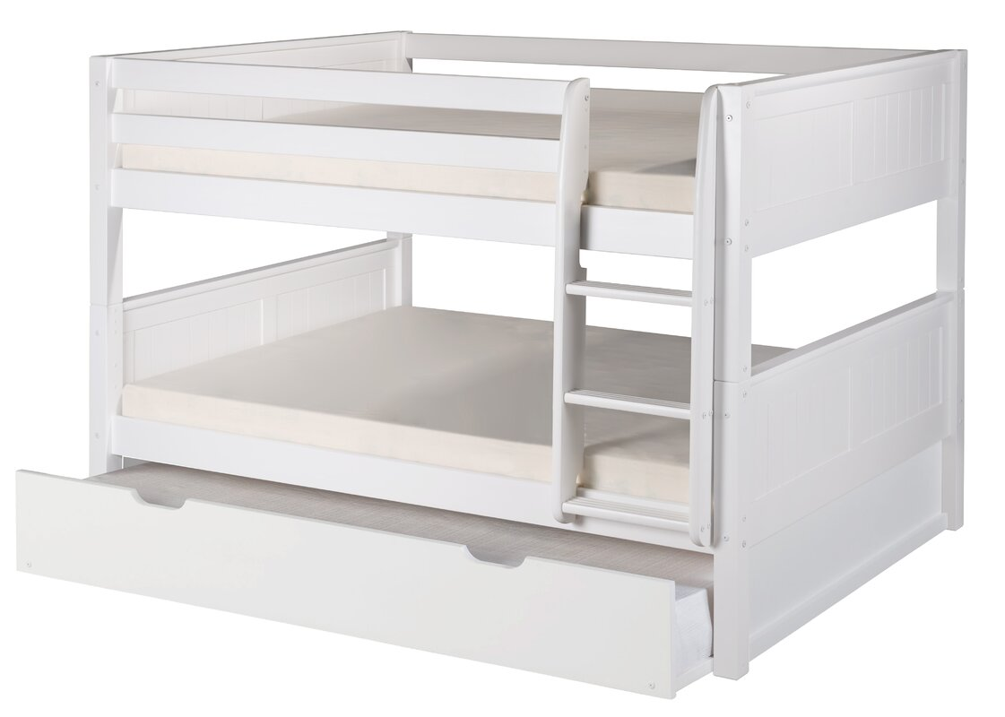 camaflexi full over full bunk bed with trundle