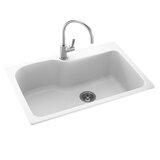 """Swanstone Kitchen Sinks 33"""" L x 22"""" W Drop-In Kitchen Sink"""