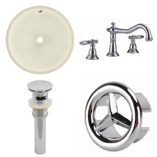 Read Reviews CUPC Ceramic Circular Undermount Bathroom Sink with Faucet and Overflow ByAmerican Imaginations