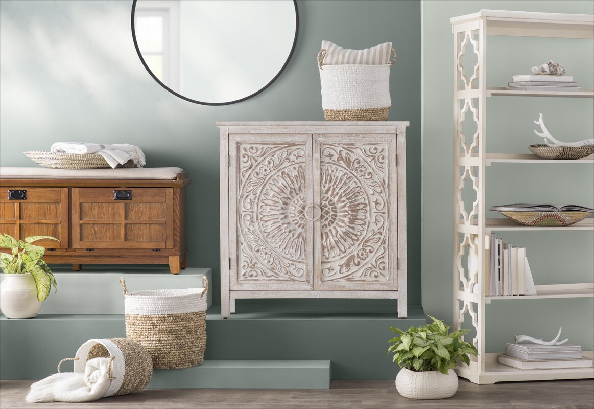 Olney Springs Traditional Carved Design Wooden 2 Door Accent  ~ Where To Buy Sofa Springs