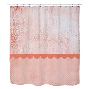 Lundstrom Peach Single Shower Curtain