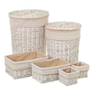 Wicker Laundry Set By August Grove