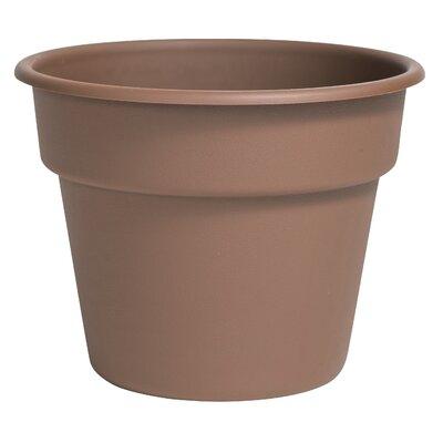 Bloem Dura Cotta Plastic Pot Planter Size: 5.25 H x 6.75 W x 6.75 D, Color: Chocolate