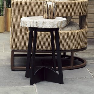 Alfresco Living Petrified Aluminum Side Table