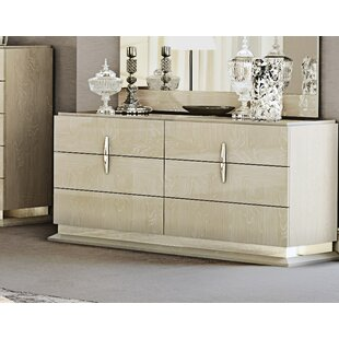 Kersh 6 Drawer Double dresser