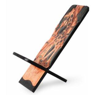 Novica Jungle Giraffe Wood Lazy Chair