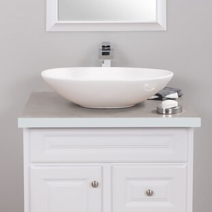 Great Price Ceramic Oval Vessel Bathroom Sink with Faucet By Novatto
