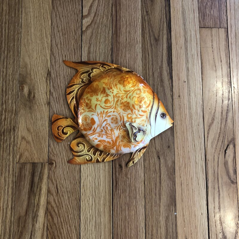 Burnt Orange Fish Wall Decor - Burnt Orange Wall Decoration