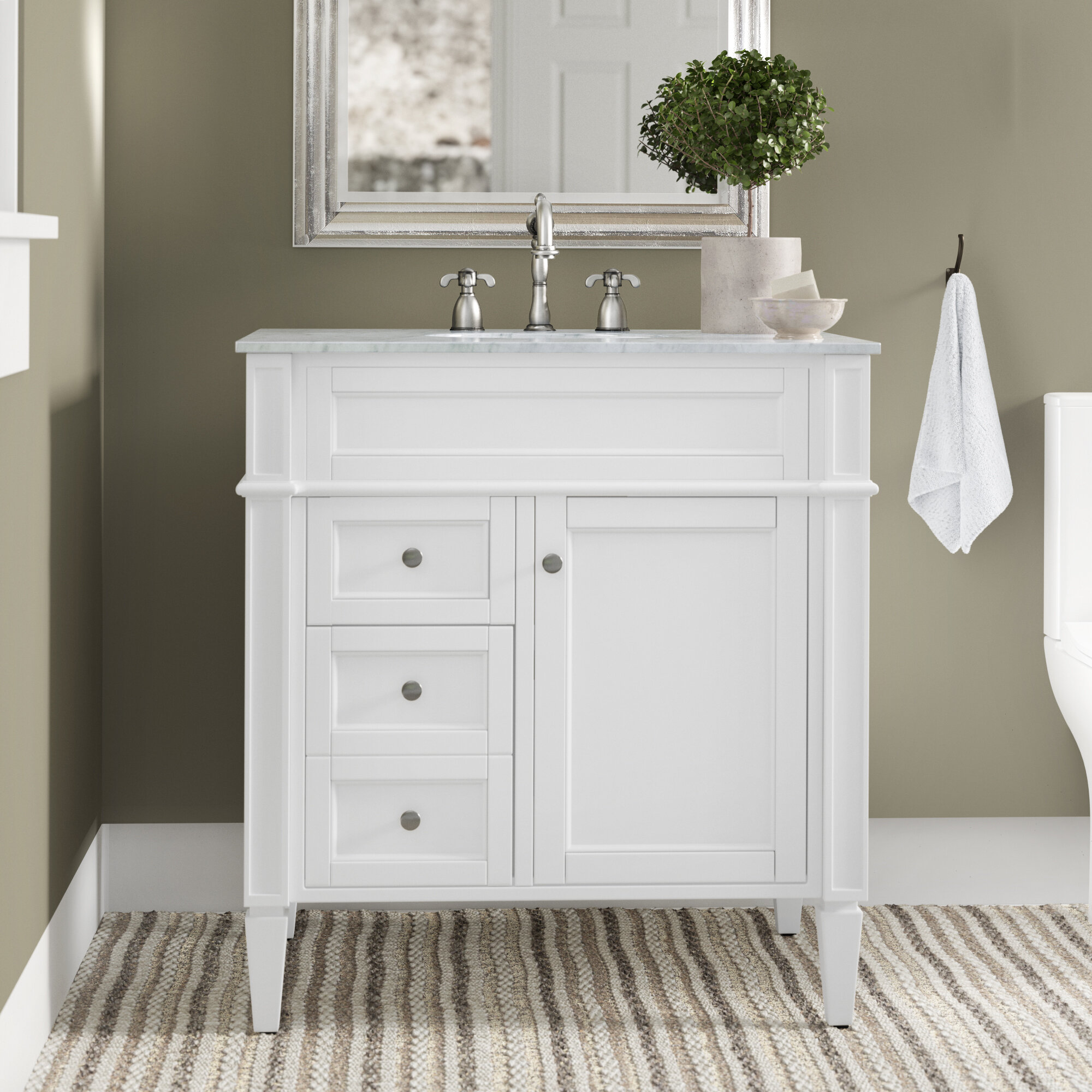 Antionette 32 Single Bathroom Vanity Set Reviews Birch Lane