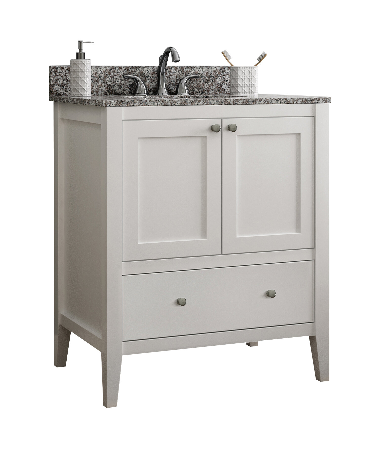 Red Barrel Studio Akinola 30 Single Bathroom Vanity Base Only Reviews Wayfair