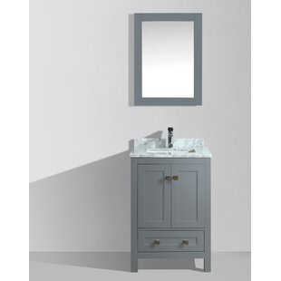 Brier 24 Single Bathroom Vanity Set with Mirror by Wrought Studio