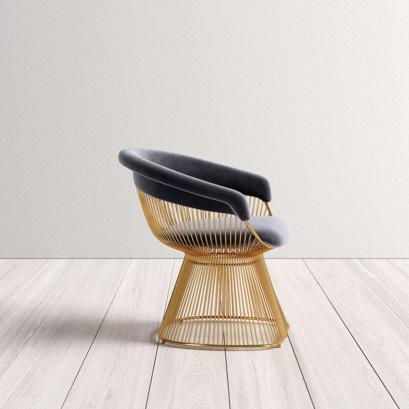 Allmodern Allison Velvet Upholstered Dining Chair Reviews Wayfair