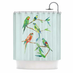 Deals 'Parrot Party' Shower Curtain ByEast Urban Home
