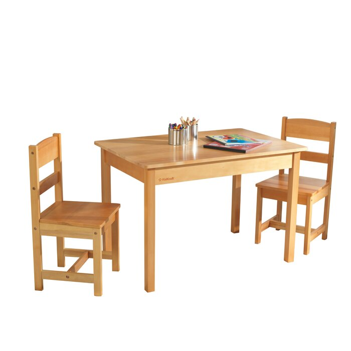 Incredible Kids 3 Piece Wood Table Chair Set Machost Co Dining Chair Design Ideas Machostcouk