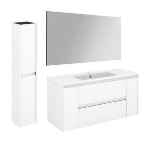 Durazo Contemporary 47 Single Bathroom Vanity Set with Column and Mirror By Orren Ellis