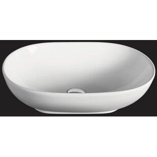 EAGO Ceramic Oval Vessel Bathroom Sink