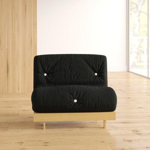 1-Sitzer Futonsessel Kaley Zipcode Design Polsterfarbe: Schwarz| Größe: 75 x 190 cm | Schlafzimmer > Schlafsofas > Schlafsessel | Zipcode Design