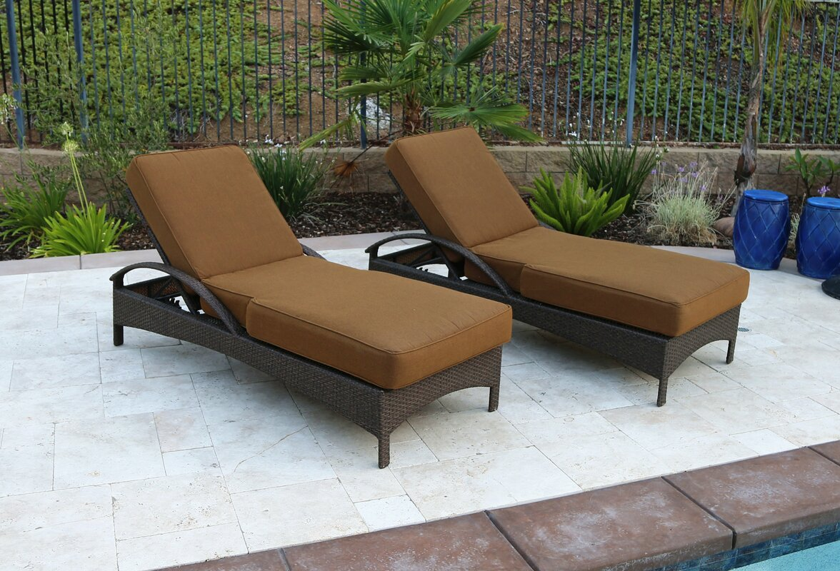 Buy Meena Double Sun Lounger Set Group With Cushion By