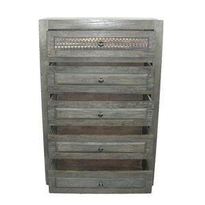 Woven 5 Drawer Chest by MOTI Furniture