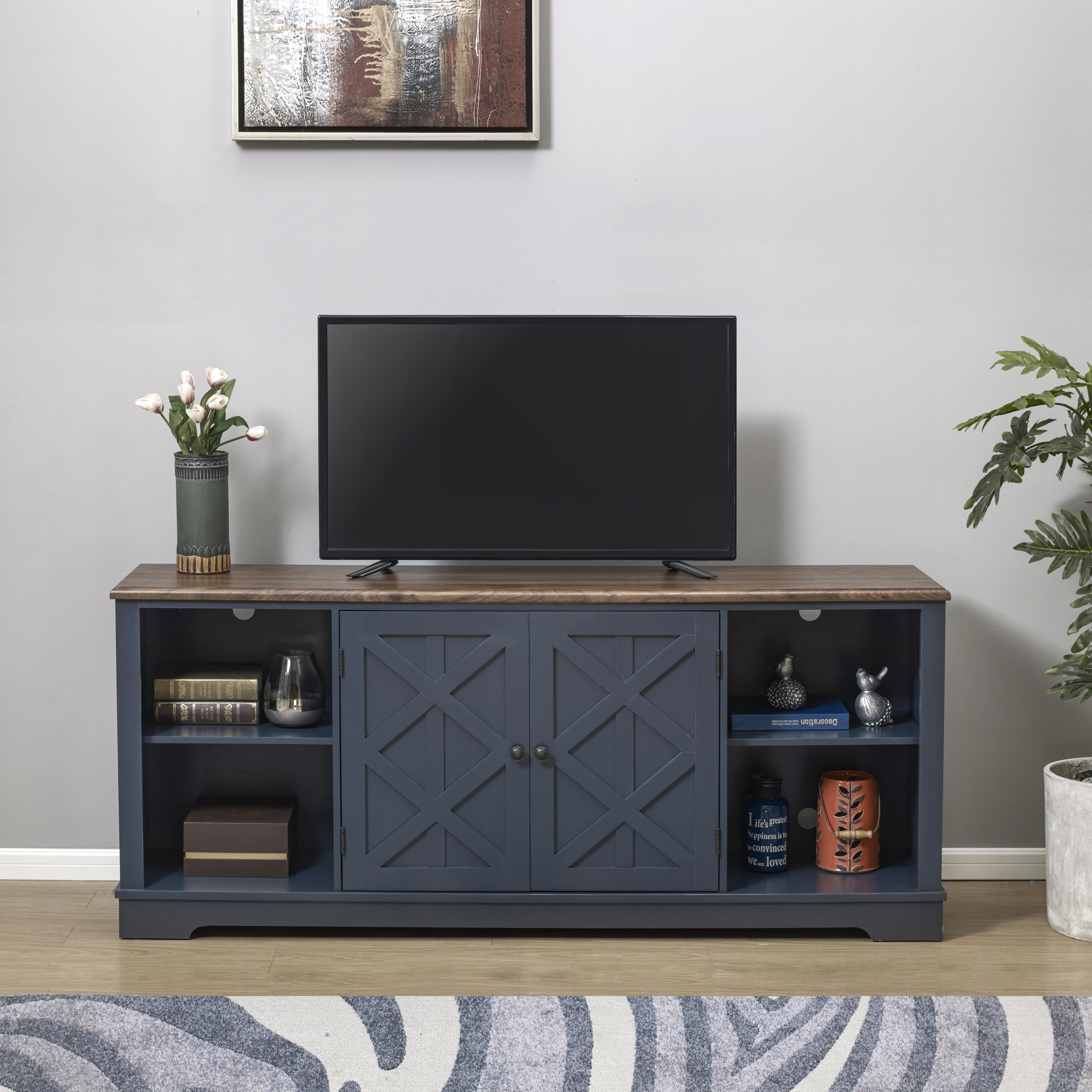Longshore Tides Clem Tv Stand For Tvs Up To 85 Reviews Wayfair Ca
