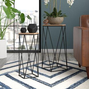 Lofland Metal Accent 2 Piece Nesting Tables