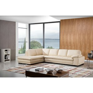 Stockbridge Leather Sectional  sc 1 st  Wayfair : beige sectional couch - Sectionals, Sofas & Couches