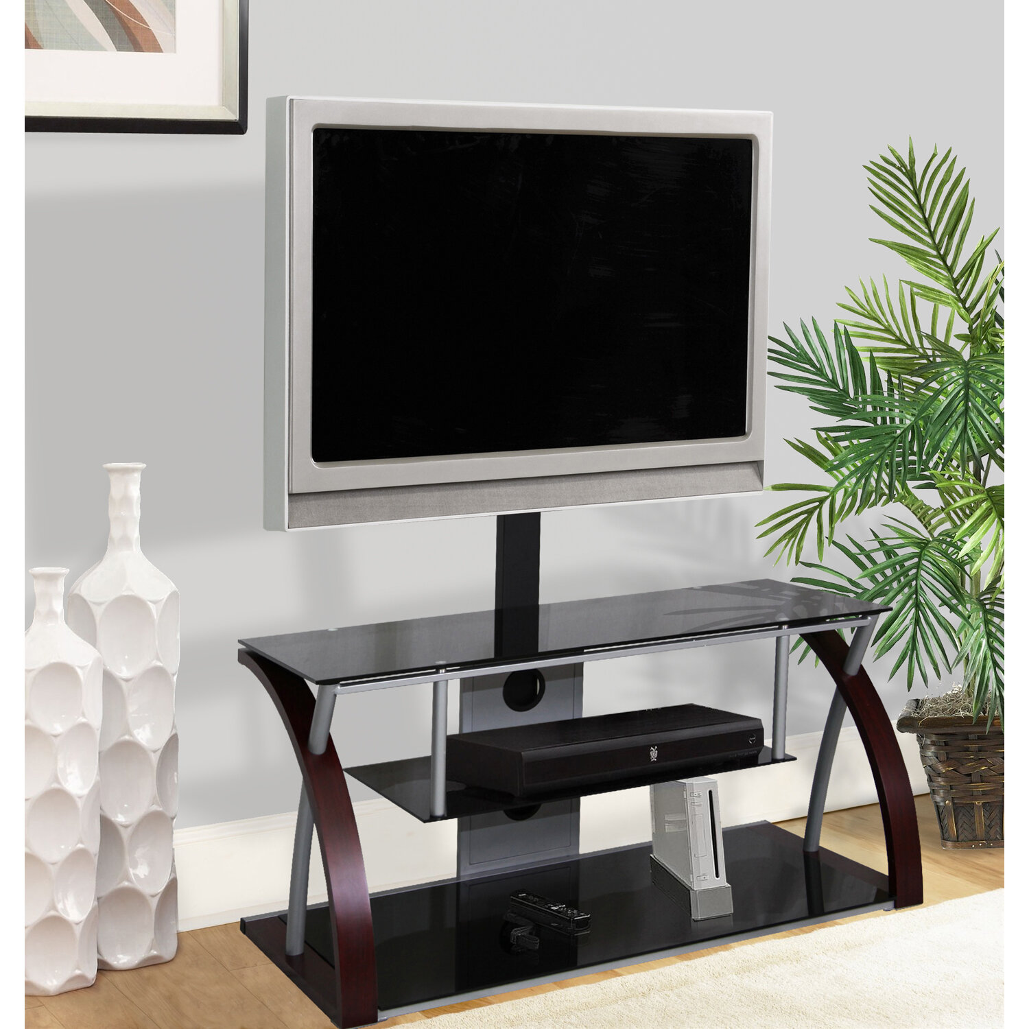 Hazelwood Home Plasma Tv Stand For Tvs Up To 55 Reviews Wayfair