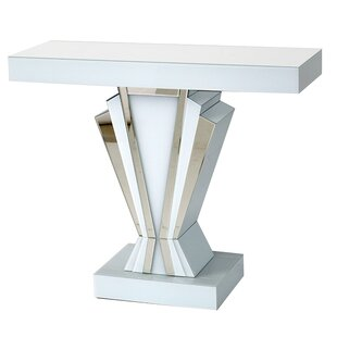 Johnny Mirrored Glass Art Deco Console Table By Canora Grey