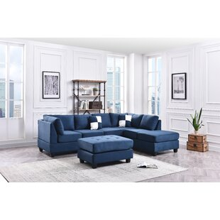 Navy Blue Sectional Sofa | Wayfair