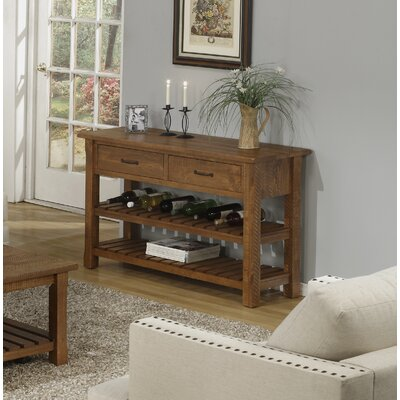 17 Stories Benefield Console Table Color Honey Tobacco